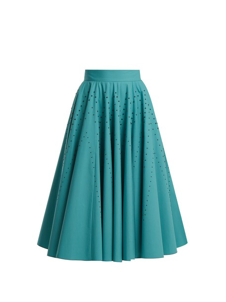 Bottega Veneta skirt studded cotton blue