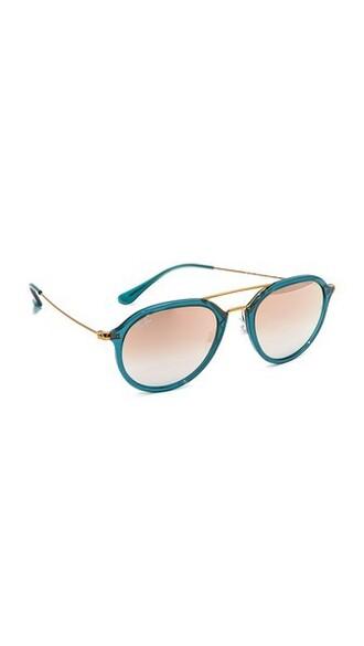 shiny sunglasses aviator sunglasses turquoise copper