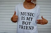 white t-shirt,shirt,music,clothes,t-shirt,boyfriend,white,black,hipster,hippie,cute,indian,summer,girly,skater,boyfriend jeans,alternative,boho,skull,music is my boyfriend,loose tshirt,white  shirt,galentines day,sweet,cool,swag,lovely,funny,quote on it,grey t-shirt,gray shirt,black and gray,band merch,blouse,black and white,boyfrirnd,band,graphic tee