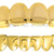 REAL SHINY!! REAL GOLD PLATED HIPHOP TUSH TEETH GRILLZ TOP AND BOTTOM GRILL SET-in Body Jewelry from Jewelry on Aliexpress.com