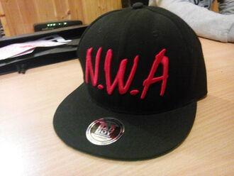 hat nwa streetwear rap west coast compton cap flatt bill flat bill cap snapback snapback hat snapback cap