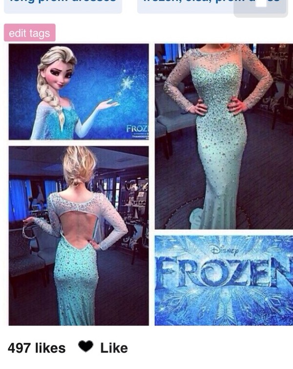 dress frozen elsa gown long sleeveless