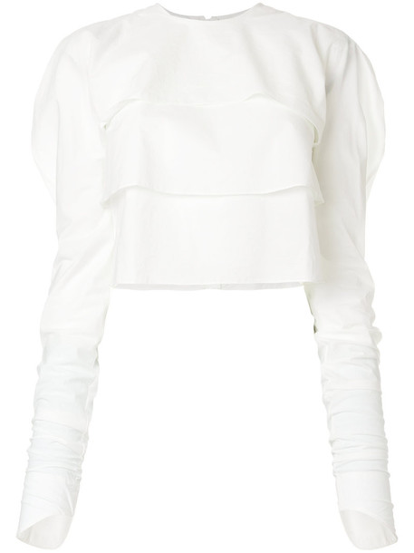 Lemaire top women white cotton