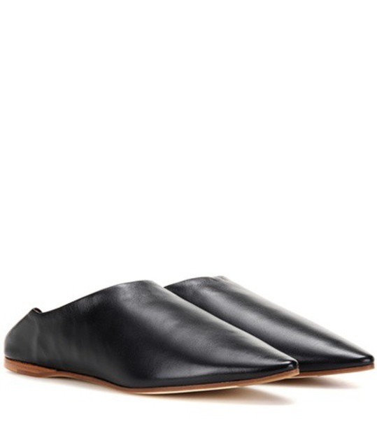 Acne Studios slippers leather black shoes