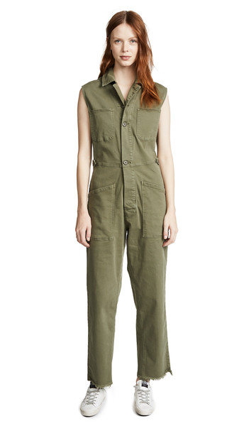 FRAME Service Jumpsuit in green