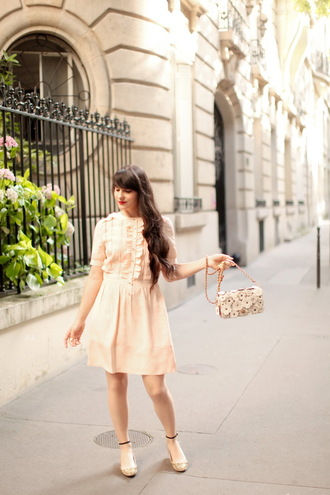 the cherry blossom girl blogger dress bag shoes