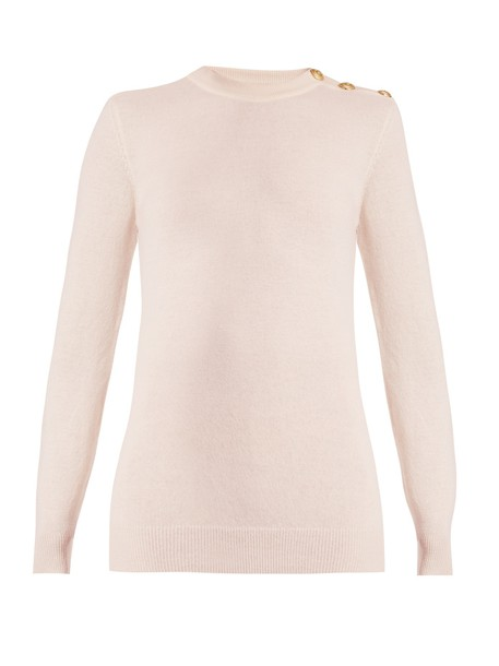 Balmain sweater wool light pink light pink
