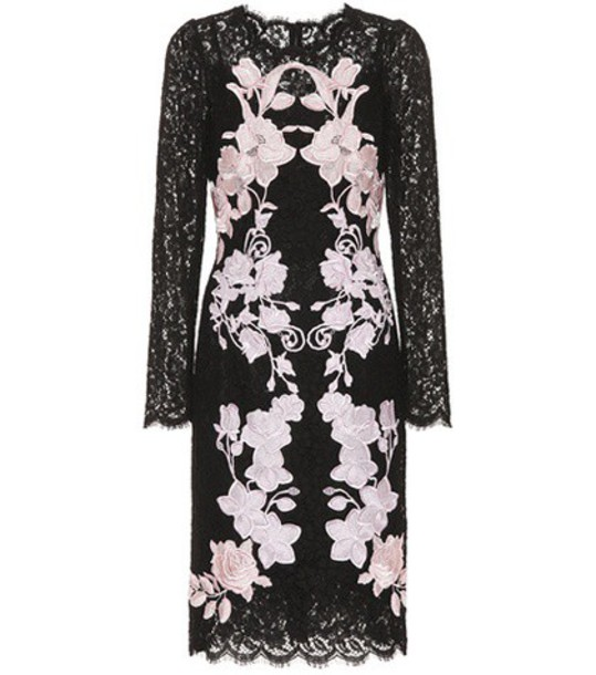 Dolce & Gabbana dress lace dress embroidered lace black