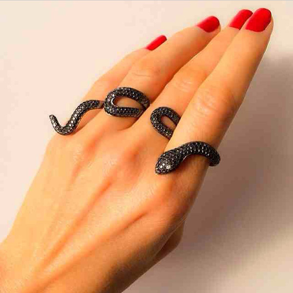 jewels snake ring black jewels