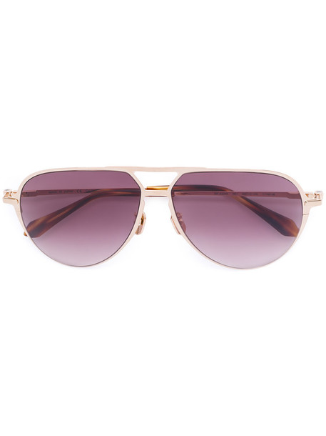 Brioni - aviator sunglasses - women - Titanium/Acetate - 59, Grey, Titanium/Acetate in metallic