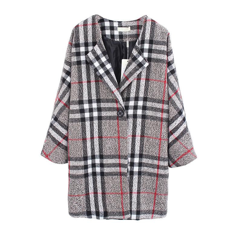 """""""smells like fall"""" oversized plaid check coat – glamzelle"""