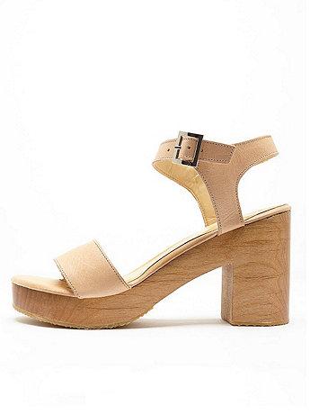 a33bca3f751 Wooden Heel Sandal