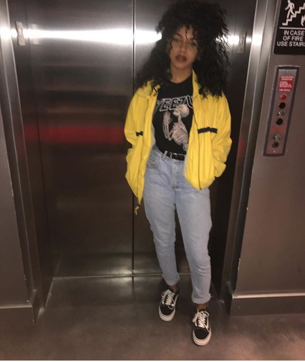 90s Black Fashion Girl: Jacket, 90s Style, 90s Style, Tumblr, Fashionista, Outfit