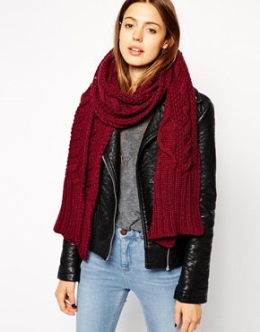 ASOS Cable Scarf at asos.com