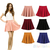 Fashion Women's Candy Color Stretch Waist Pleated Jersey Plain Skater Flared Mini Skirts-in Skirts from Apparel & Accessories on Aliexpress.com