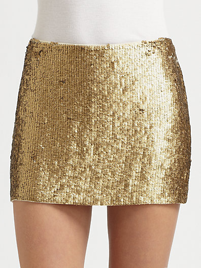Haute Hippie - Textured Sequin Mini Skirt - Saks.com