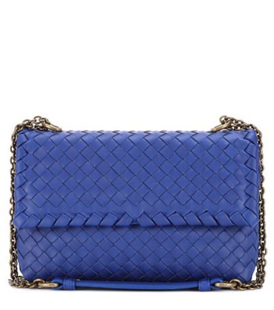 Bottega Veneta bag shoulder bag leather blue