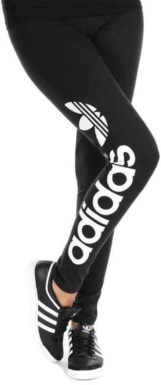 pants adidas trefoil adidas black white leggings