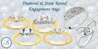 jewels engagement ring three stone round diamond engagement ring