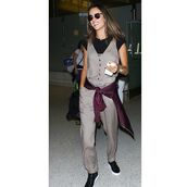 jumpsuit,astars womens,astars,celebrity,alessandra ambrosio,airport fashion,airport style,military style,model,model off-duty,celebrity style