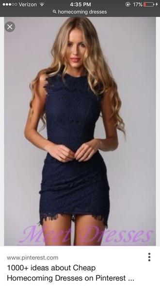 dress lace dress navy dress bodycon dress