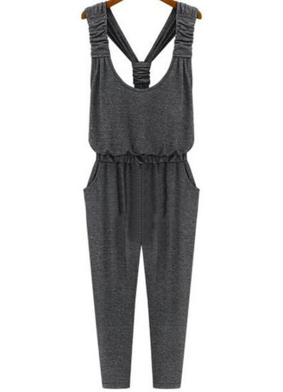 Jumpsuits bolsillos-gris