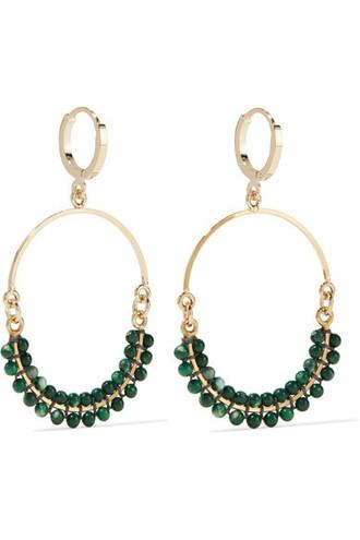 beaded earrings hoop earrings gold jewels