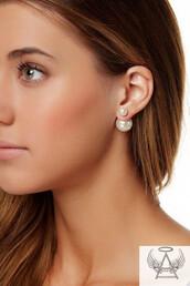 jewels,stud earrings,double sided earrings,ball earrings,fashion earrings,cute earrings,dior earrings,big pearl earrings,white pearl earrings,double ball earrings,earrings,jewelry,boho jewelry,silver jewelry,frantic jewelry,hand jewelry,minimalist jewelry,grunge jewelry,hoop earrings,ear cuff,cross earring,statement earrings,ear piercings,gold earrings,studs,fashion,black dress,sexy dress,blogger,girly,female,pearl,pearl earrings,rihanna earrings,accessories,fashion accessory