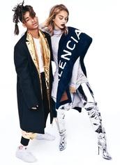 coat,gold,sneakers,jaden smith,model,editorial,menswear,mens jacket
