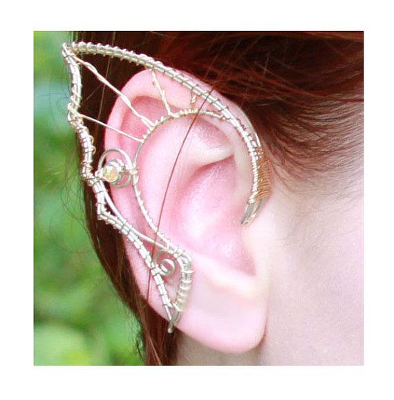 Custom silver hair-friendly elf ears