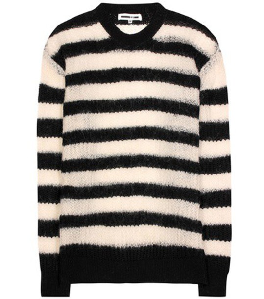 sweater mohair wool black