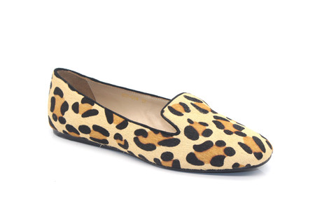 Stylish Slippers - Pony Leopard Print Flats