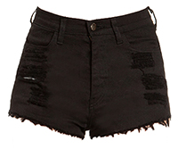 Distressed Cut Off Shorts in Black S - L | DAILYLOOK