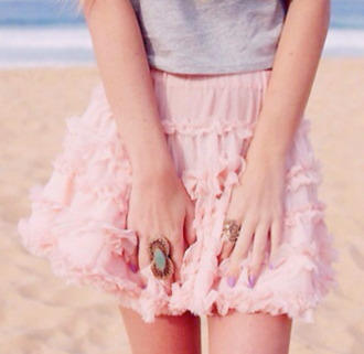 cute skirt girly pink rosy