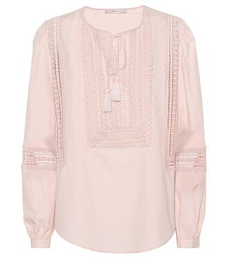 top cotton pink