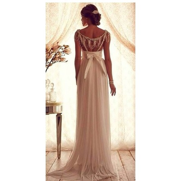 dress chiffon elegance beautiful nude
