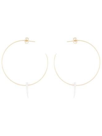 earrings hoop earrings metallic jewels