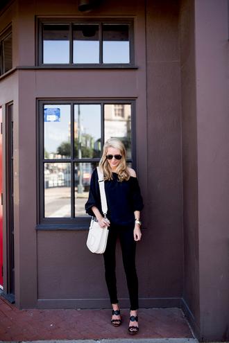 krystal schlegel blogger shoes top bag jeans underwear