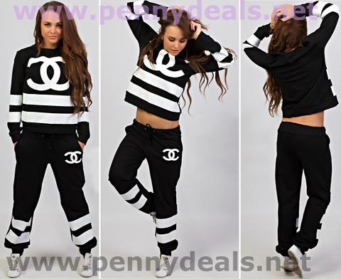 Fashion stripe suit black price including registered postage