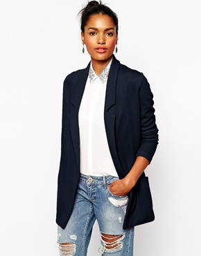River Island | River Island Textured Jersey Blazer at ASOS