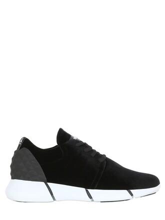 sneakers velvet black shoes