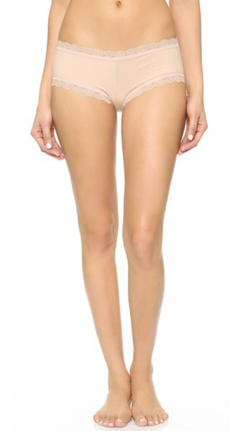 Hanky Panky Cotton With A Conscience Boy Shorts - Chai
