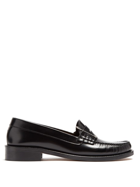 ALEXACHUNG embellished loafers leather black shoes