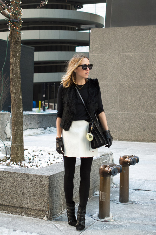 damsel in dior sweater jacket skirt