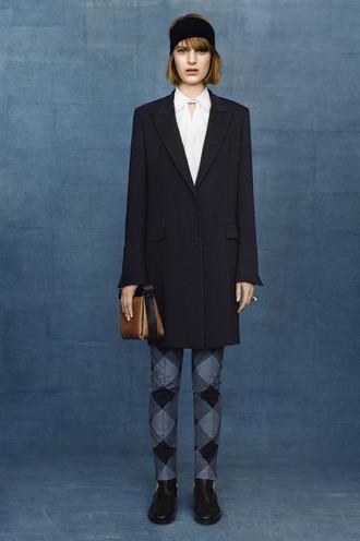 fashion lookbook blouse coat balenciaga
