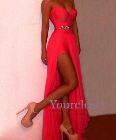 Line coral chiffon prom dress, graduation dress, bridesmaid dress, formal dress · online store powered by storenvy