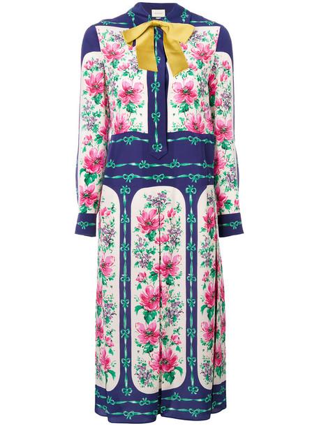 gucci dress print dress rose women print silk
