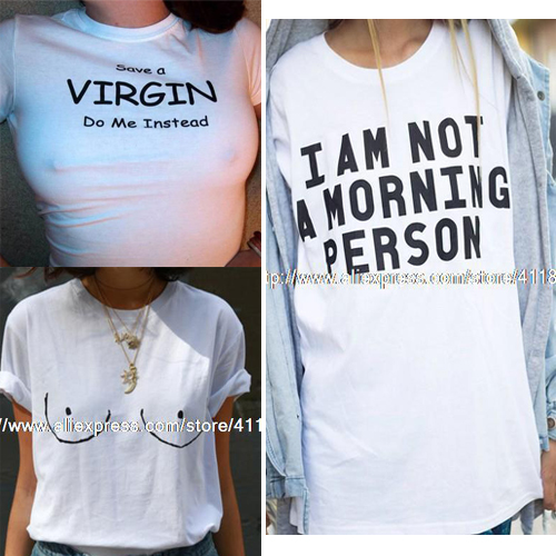size I am not a morning person wording funny casual cotton short ...