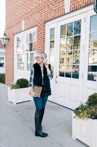 lemon stripes blogger jacket shirt bag jeans shoes sunglasses vest boots clutch winter outfits