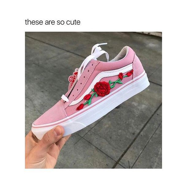 e64c8c11bb Con Vans Rose Skool Old Bandiere SWq1AF